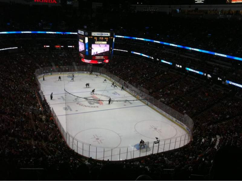 Seating view for Honda Center Section 403 Row N Seat 11