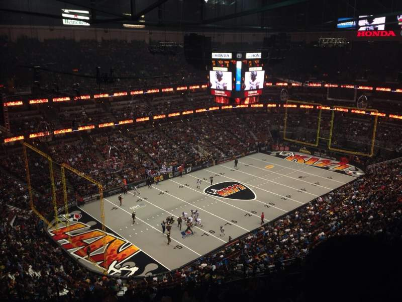 Seating view for Honda Center Section 439 Row S Seat 7