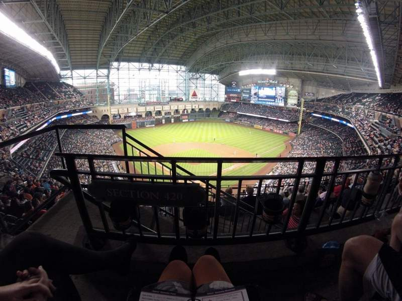 Seating view for Minute Maid Park Section 420 Row 1 Seat 2