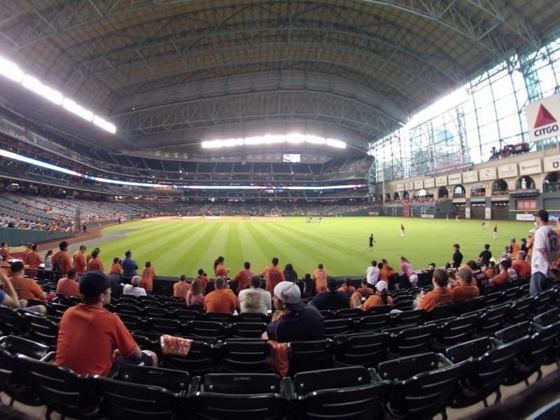 Seating view for Minute Maid Park Section 153