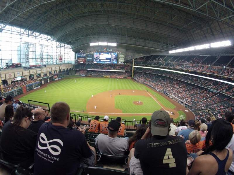 Seating view for Minute Maid Park Section 113 Row 5 Seat 8