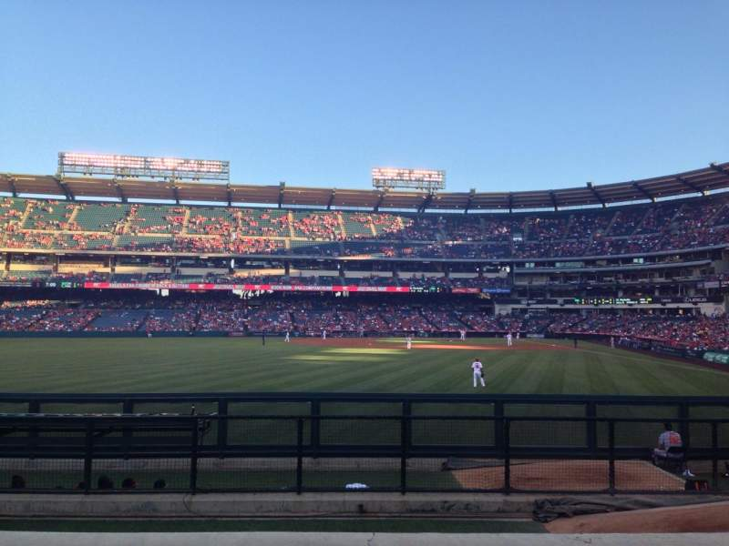Seating view for Angel Stadium Section 259 Row G Seat 6