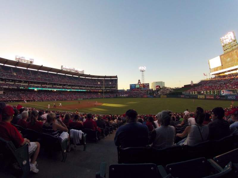 Seating view for Angel Stadium Section F129 Row Z Seat 1