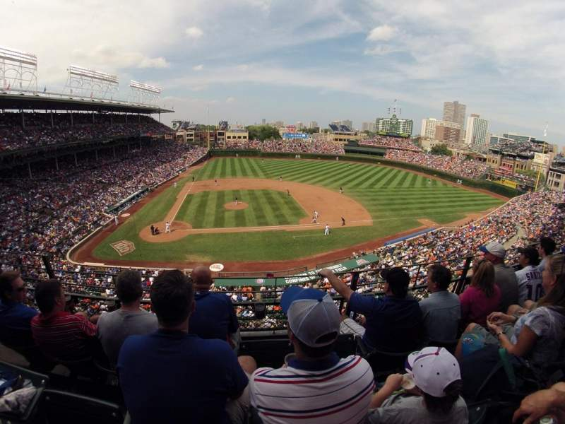Seating view for Wrigley Field Section 427 Row 3 Seat 5