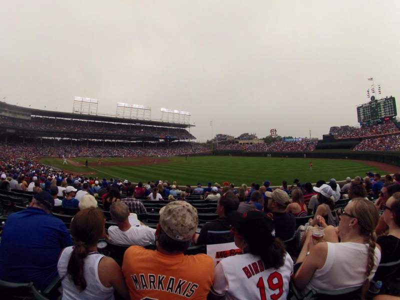 Seating view for Wrigley Field Section 139 Row 10 Seat 7
