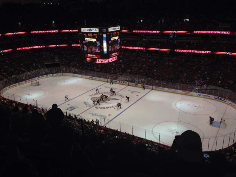 Seating view for Honda Center Section 408 Row L Seat 4