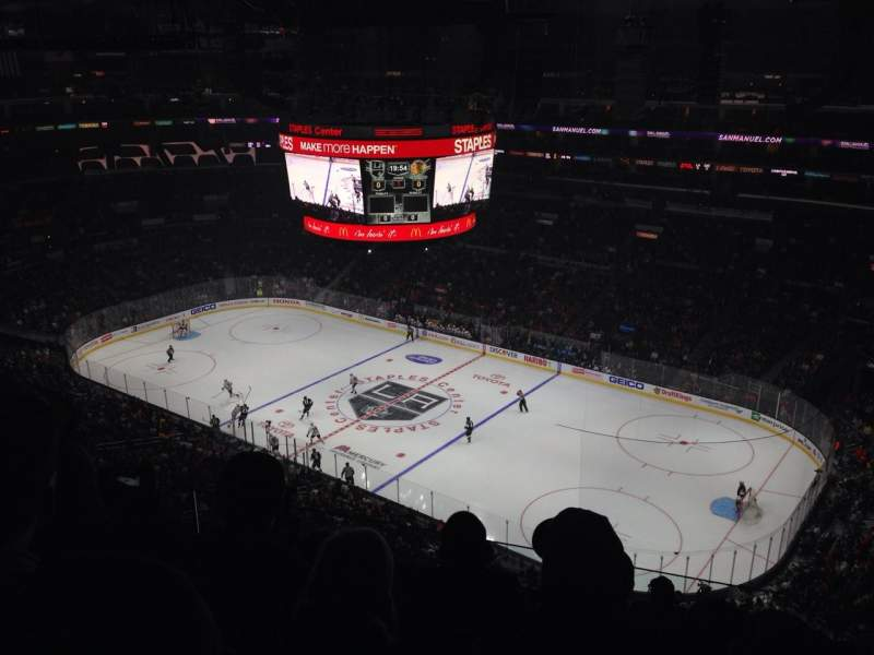 Seating view for Staples Center Section 315 Row 9 Seat 8