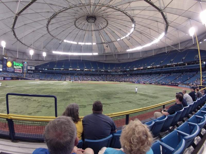 Seating view for Tropicana Field Section 145 Row V Seat 1