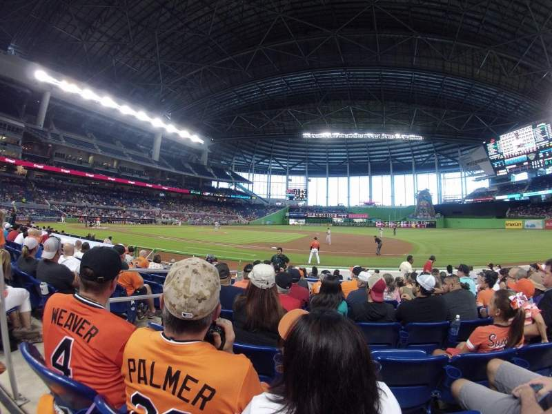 Seating view for Marlins Park Section 7 Row G Seat 20