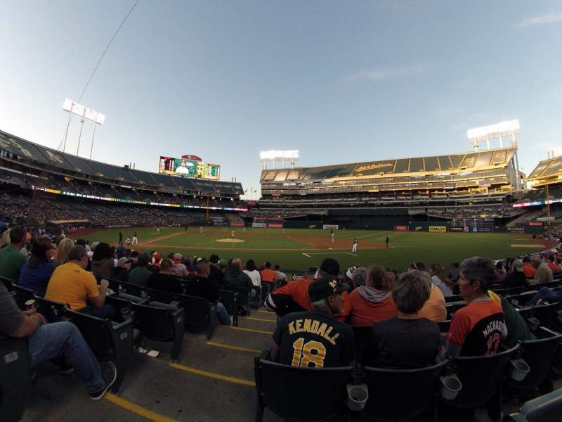 Seating view for Oakland Alameda Coliseum Section 113 Row 16 Seat 16