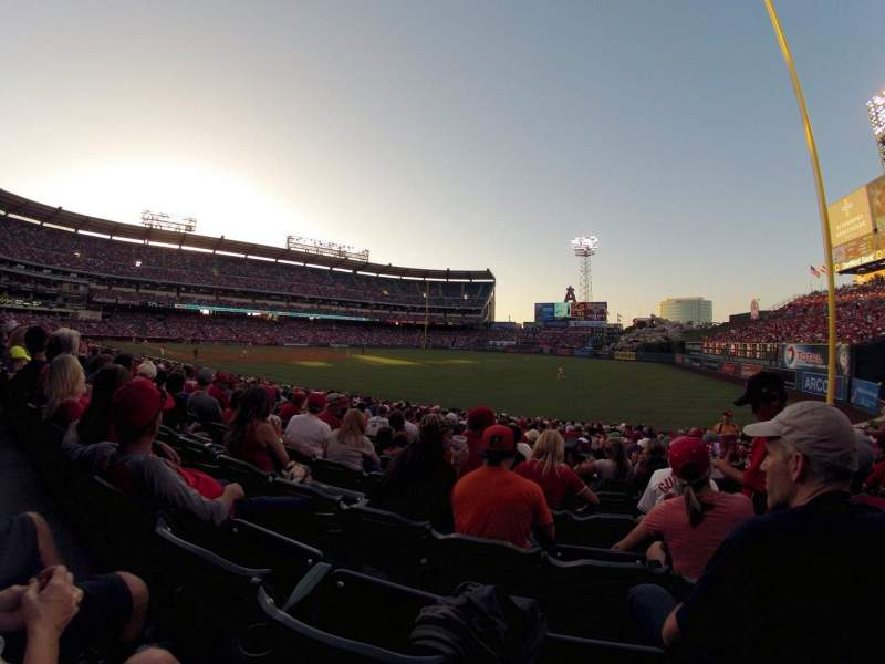 Seating view for Angel Stadium Section F131 Row W Seat 15