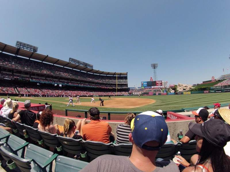 Seating view for Angel Stadium Section F126 Row E Seat 15