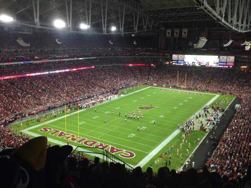 Seating view for University of Phoenix Stadium Section 454 Row 10 Seat 20