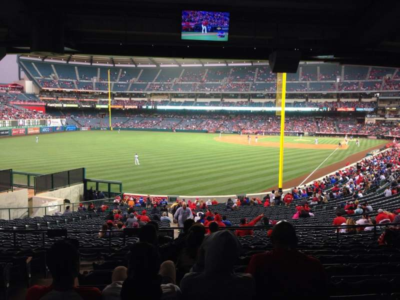 Seating view for Angel Stadium Section 202 Row K Seat 2