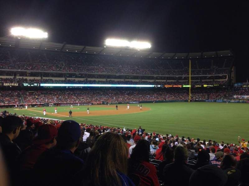Seating view for Angel Stadium Section F131 Row Z Seat 9