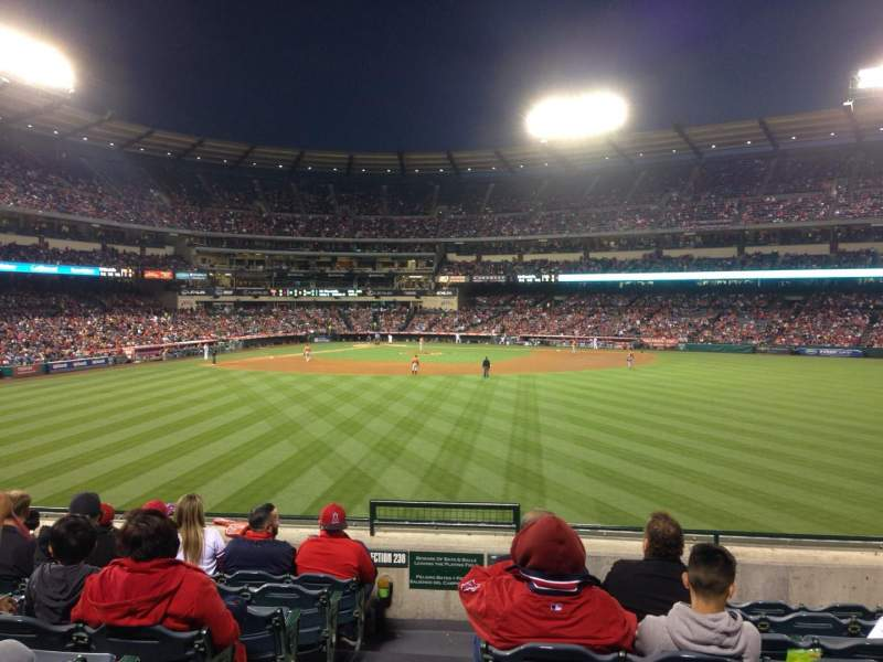 Seating view for Angel Stadium Section P239 Row H Seat 1