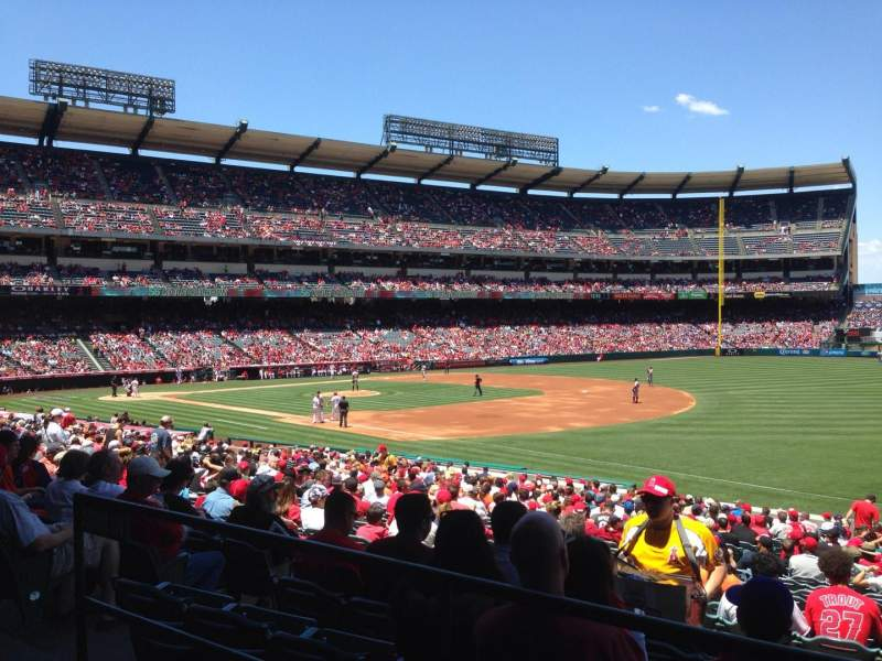 Seating view for Angel Stadium Section T227 Row A Seat 1