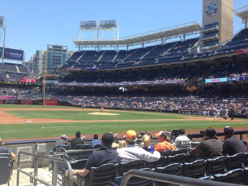 Seating view for PETCO Park Section 112 Row 10 Seat 1
