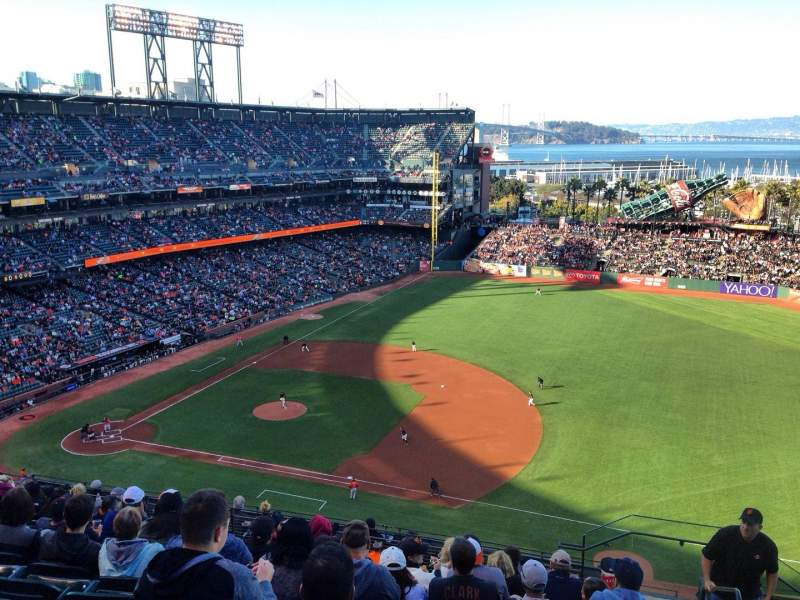 Seating view for AT&T Park Section 305 Row 10 Seat 1