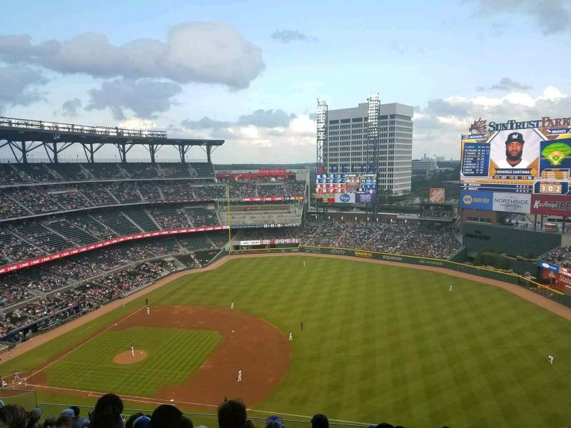 Seating view for SunTrust Park Section 416 Row 9 Seat 11