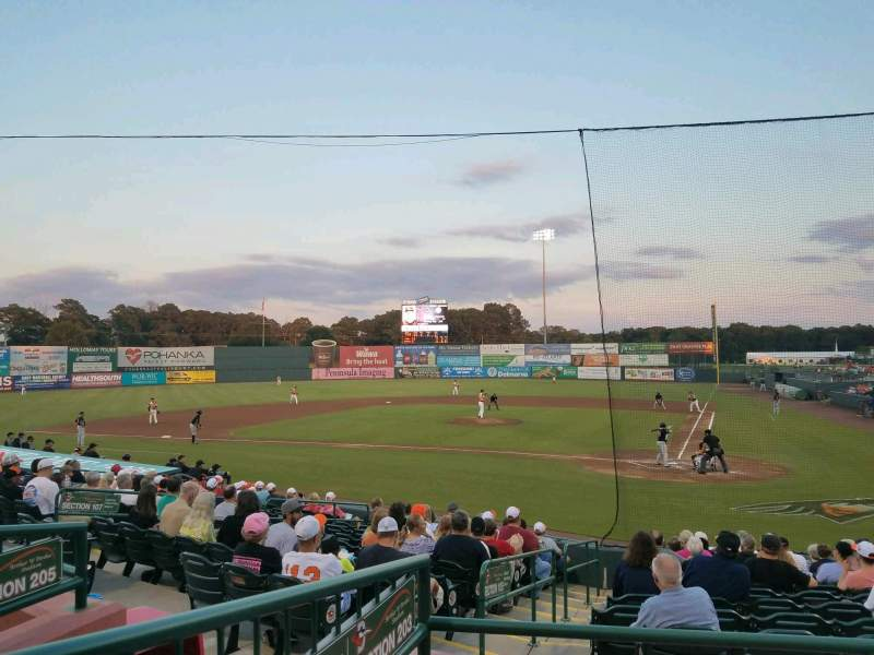 Arthur W. Perdue Stadium, section: 203, row: CC, seat: 10