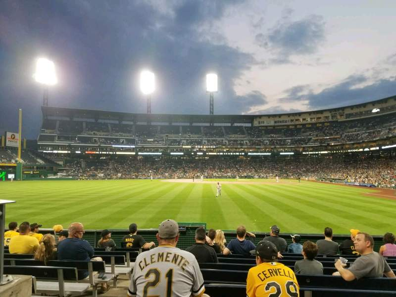 Seating view for PNC Park Section 135 Row K Seat 25