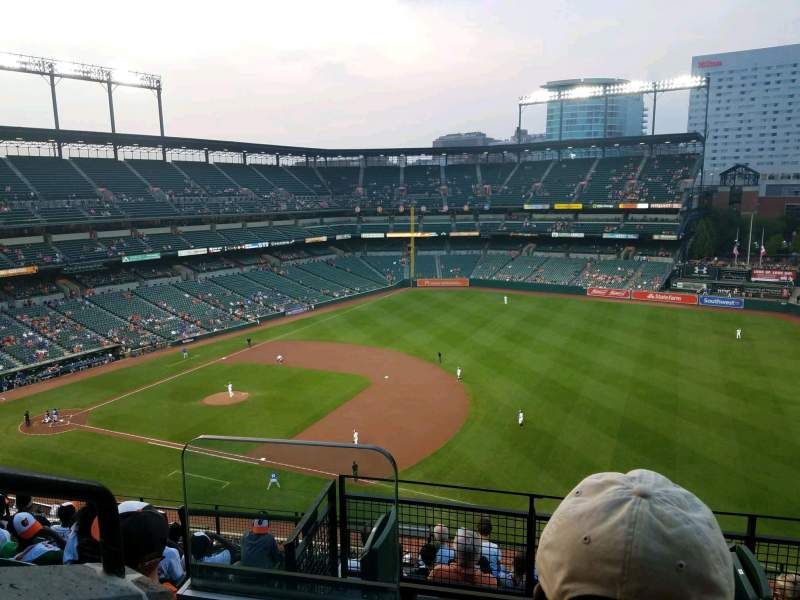 Seating view for Oriole Park at Camden Yards Section 312 Row 10 Seat 18