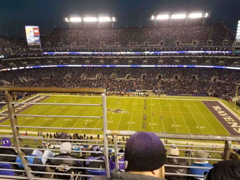 Seating view for M&T Bank Stadium Section 525 Row 5 Seat 14