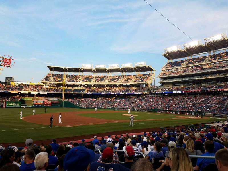 Seating view for Nationals Park Section 113 Row T Seat 5