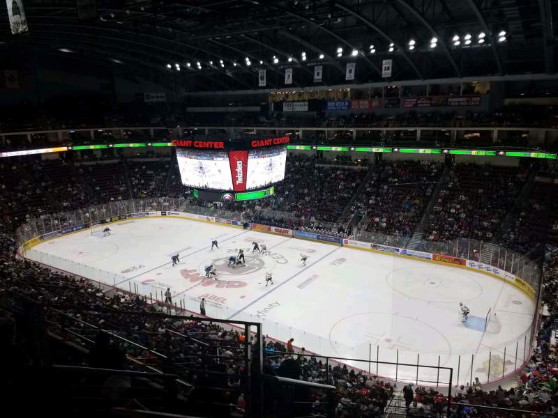 Seating view for Giant Center Section 210 Row F Seat 23
