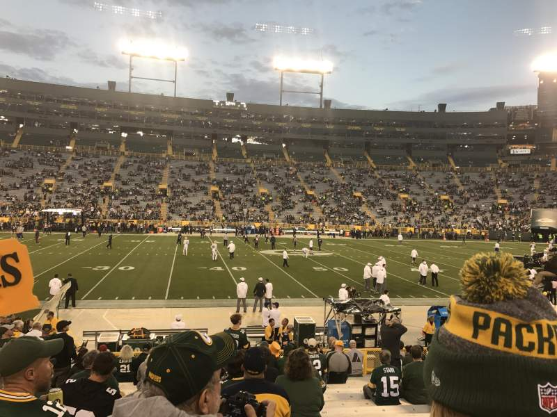 Lambeau Field, section: 118, row: 17, seat: 13 and 14