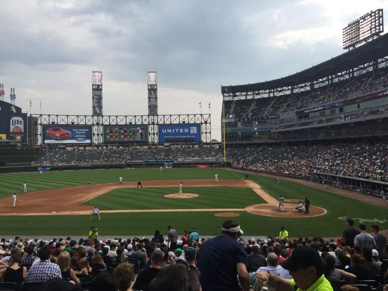 Seating view for U.S. Cellular Field Section 137 Row 29 Seat 9