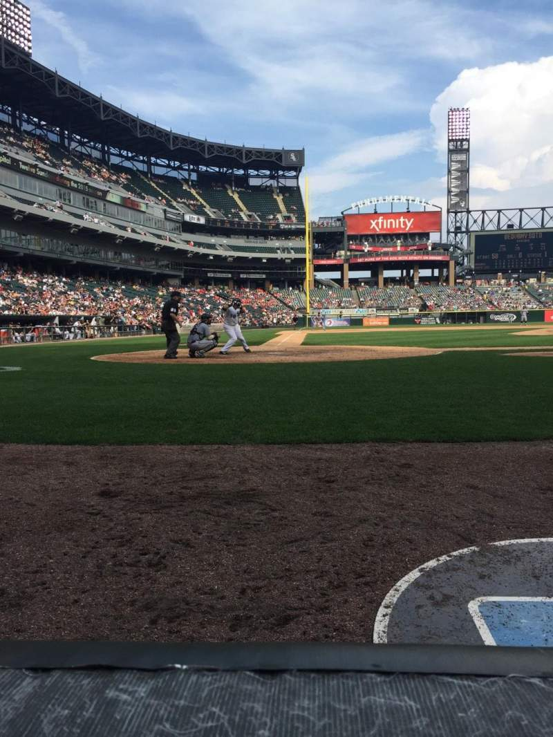 Seating view for Guaranteed Rate Field Section 128 Row 1 Seat 6