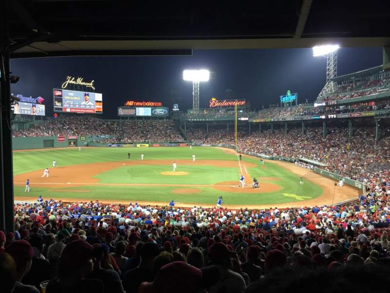 Seating view for Fenway Park Section Grandstand 24 Row 12 Seat 17