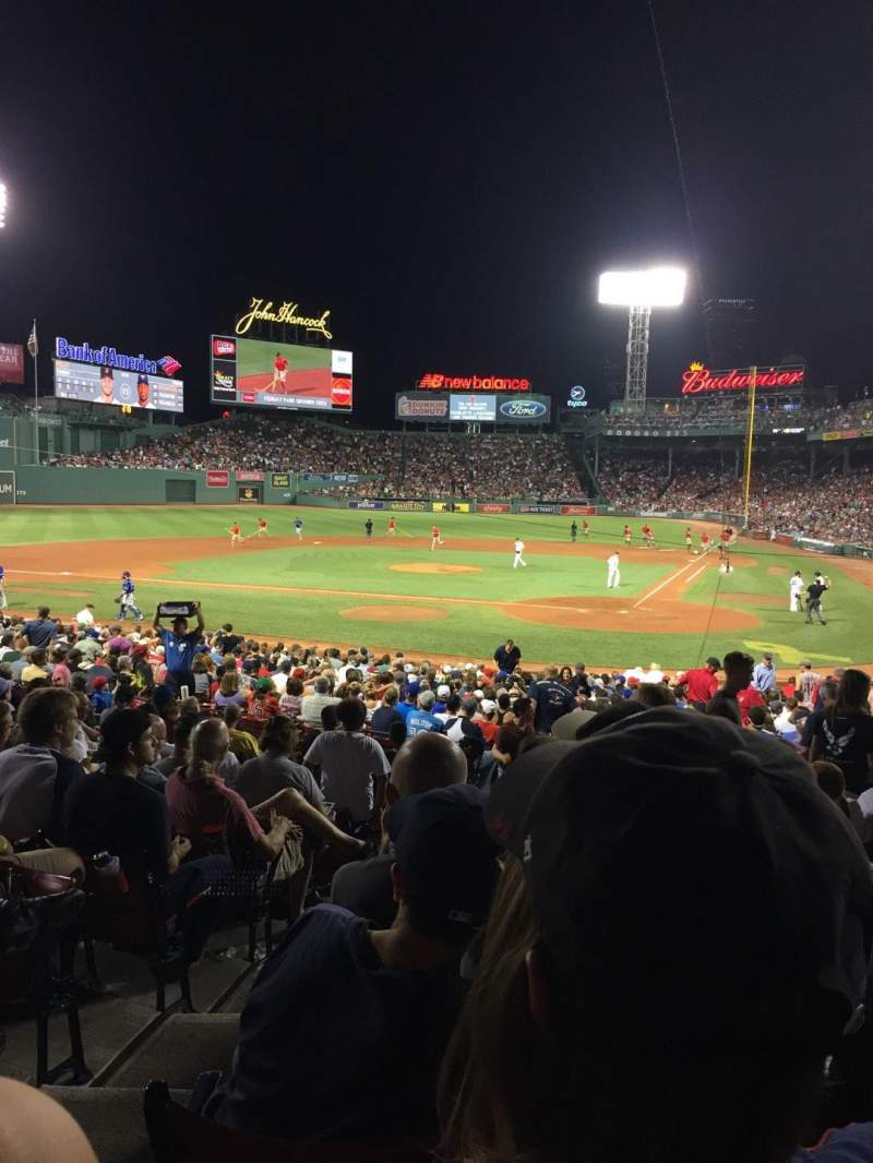 Seating view for Fenway Park Section Field Box 23 Row MM Seat 7