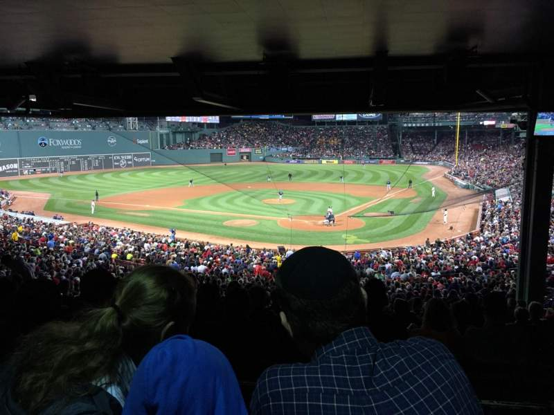 Seating view for Fenway Park Section Grandstand 22 Row 18 Seat 16