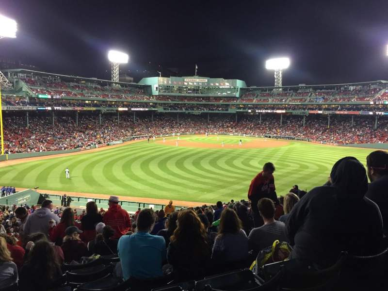 Seating view for Fenway Park Section Bleacher 38 Row 29 Seat 7