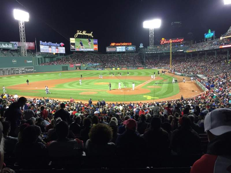Seating view for Fenway Park Section Grandstand 23 Row 7 Seat 3