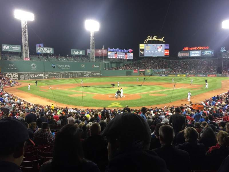Seating view for Fenway Park Section Loge Box 130 Row NN Seat 5