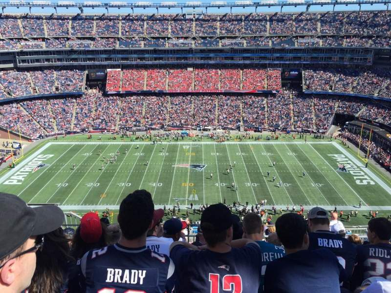Seating view for Gillette Stadium Section 331 Row 14 Seat 19