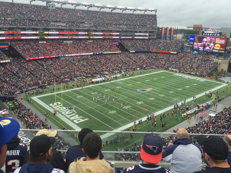 Seating view for Gillette Stadium Section 318 Row 4 Seat 7