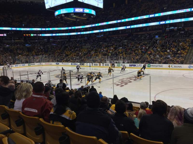 Seating view for TD Garden Section Loge 21 Row 12 Seat 5