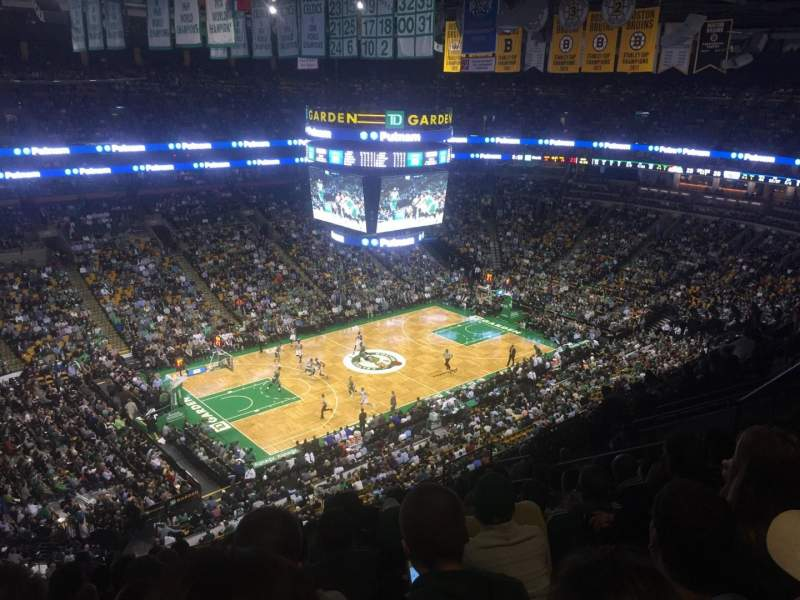 Seating view for TD Garden Section Bal 304 Row 12 Seat 14
