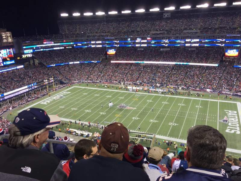 Seating view for Gillette Stadium Section 306 Row 16 Seat 23