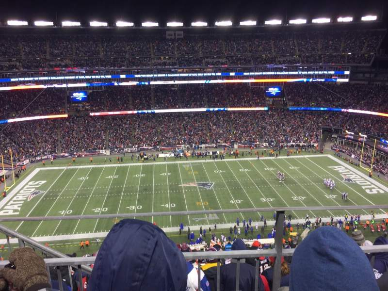 Seating view for Gillette Stadium Section 332 Row 9 Seat 20