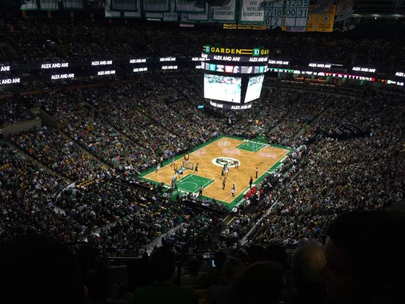 Seating view for TD Garden Section BAL 306 Row 12 Seat 21