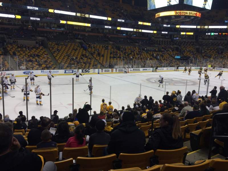 Seating view for TD Garden Section Loge 4 Row 14 Seat 4