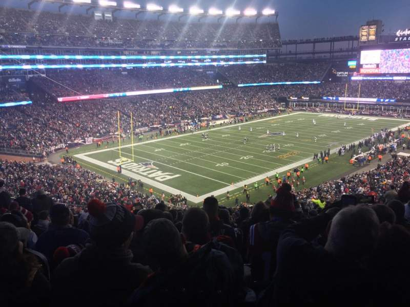Seating view for Gillette Stadium Section 238 Row 26 Seat 20