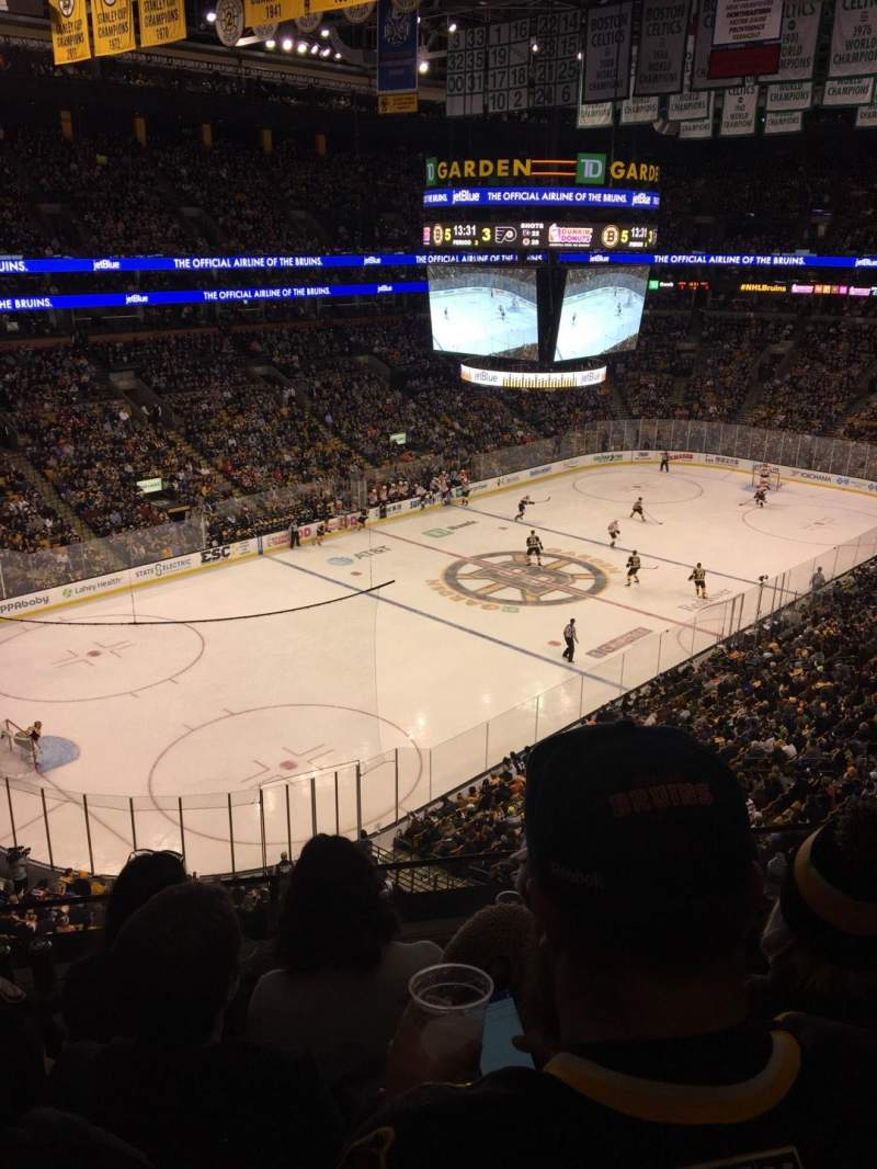 Seating view for TD Garden Section Old Bal 320 Row 4 Seat 5