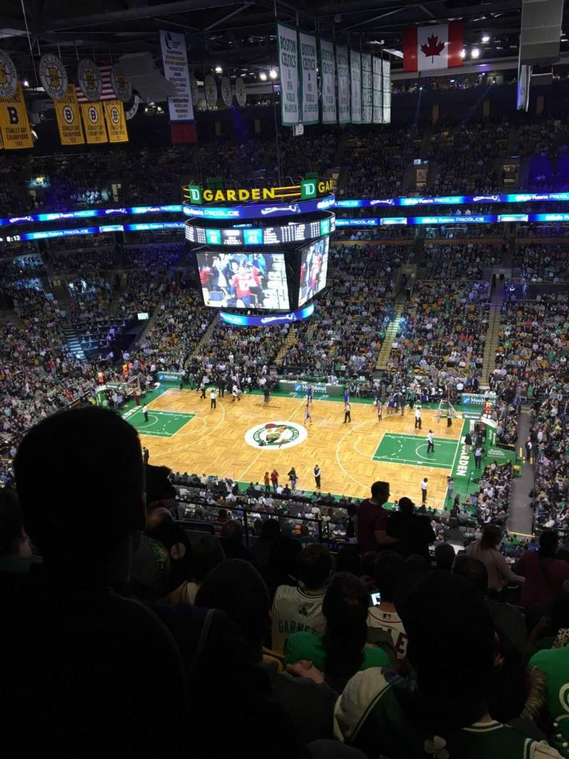 Seating view for TD Garden Section Bal 314 Row 14 Seat 17